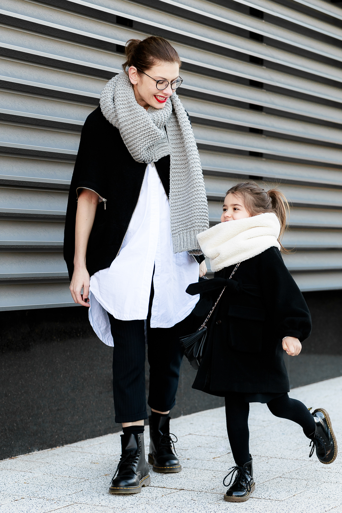 How To Wear Combat Boots | Mother - Daughter Mommy and Me Outfit Mini Me Street Style feat. Dr. Martens boots | EdgyCuts