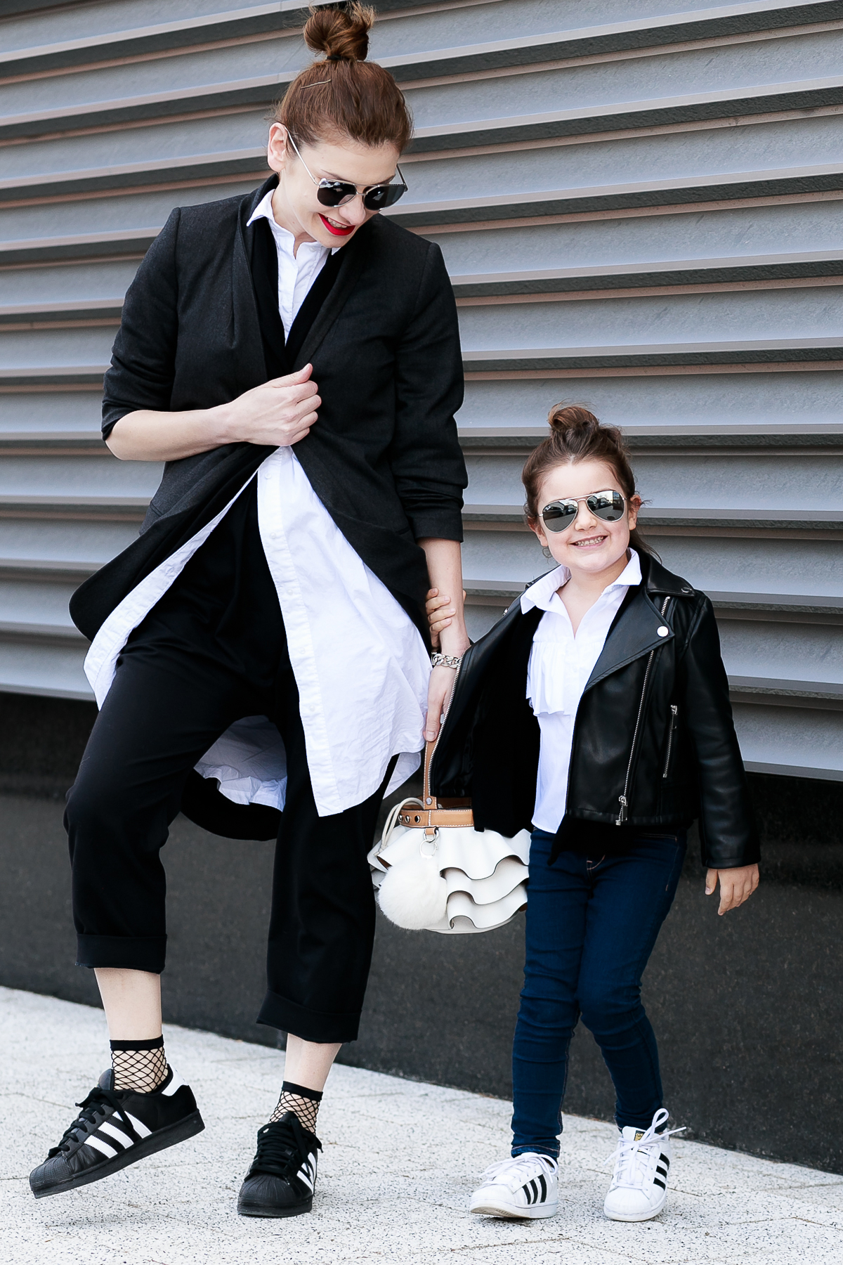 Mother - Daughter Mommy and Me Outfit Mini Me Street Style in Monochrome | EdgyCuts