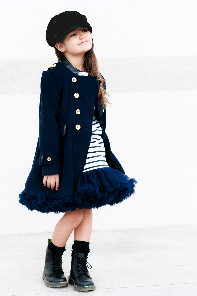 How to Wear Tutu Skirts With an Edge: Military Chic | Kids Style by Miss Kaira | EdgyCuts